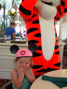 She was so excited to see Tigger!