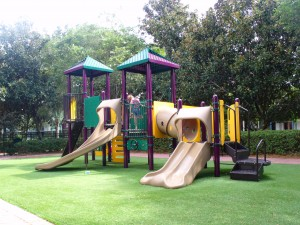 Let your kids play on a playground at your Disney Resort